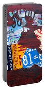 License Plate Map Of Canada Portable Battery Charger