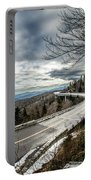 Linn Cove Viaduct During Winter Near Blowing Rock Nc Portable Battery Charger