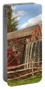 Longfellow's Wayside Inn Grist Mill Portable Battery Charger by Jeff Folger