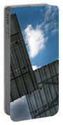 Low Angle View Of Solar Panels Portable Battery Charger