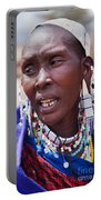 Maasai Woman Portrait In Tanzania Portable Battery Charger