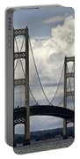 Mackinaw Bridge By The Straits Of Mackinac Portable Battery Charger