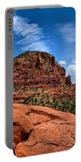 Madonna And Child Two Nuns Rock Formations Sedona Arizona Portable Battery Charger