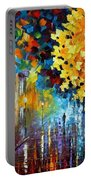 Magic Rain Portable Battery Charger by Leonid Afremov