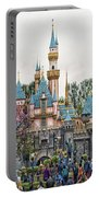 Main Street Sleeping Beauty Castle Disneyland 01 Portable Battery Charger