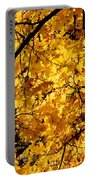 Maple Tree In Yellow Fall Colors Portable Battery Charger
