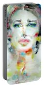 Maria Callas - Watercolor Portrait.2 Portable Battery Charger