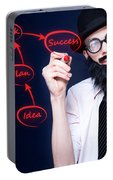 Marketing Business Man Drawing Success Diagram Portable Battery Charger