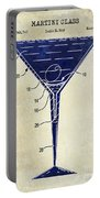 Martini Glass Patent Drawing Two Tone  Portable Battery Charger