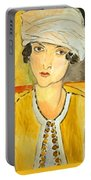Matisse's Lorette With Turban And Yellow Jacket Portable Battery Charger