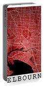 Melbourne Street Map - Melbourne Australia Road Map Art On Color Portable Battery Charger