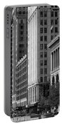 Michigan Avenue Chicago B W Portable Battery Charger