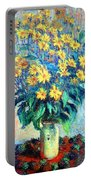Monet's Jerusalem  Artichoke Flowers Portable Battery Charger