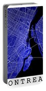Montreal Street Map - Montreal Canada Road Map Art On Colored Ba Portable Battery Charger