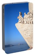 Monument To The Discoveries In Lisbon Portable Battery Charger