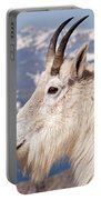 Mountain Goat Portrait On Mount Evans Portable Battery Charger