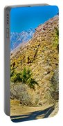 Mountain Peaks From Lower Palm Canyon Trail In Indian Canyons Near Palm Springs-california Portable Battery Charger