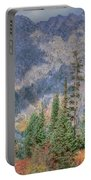 Mountains And Trees Portable Battery Charger