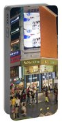 Myeongdong Shopping Street In Seoul South Korea Portable Battery Charger