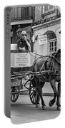 New Orleans - Carriage Ride Bw Portable Battery Charger