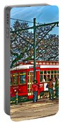 New Orleans Streetcar Painted Portable Battery Charger