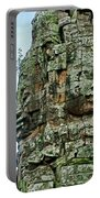 North Gate Of Angkor Thom In Angkor Wat Archeological Park-cambodia Portable Battery Charger