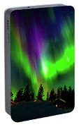 Northern Lights, Lapland, Sweden Portable Battery Charger