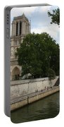 Notre Dame Along The Seine Portable Battery Charger