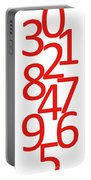 Numbers In Red And White Portable Battery Charger