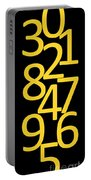 Numbers In Yellow And Black Portable Battery Charger