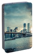 Nyc Skyline In The Sunset V1 Portable Battery Charger