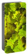 Oak Leaf Background Portable Battery Charger