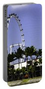 Oil Painting - Preparation Of Formula One Race With Singapore Flyer And Marina Bay Sands Portable Battery Charger