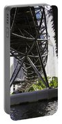 Oil Painting - View Under The Bayfront Bridge And Helix Bridge In Singapore Portable Battery Charger