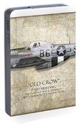 Old Crow P-51 Mustang - Map Background Portable Battery Charger