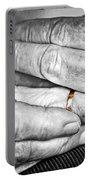 Old Hands With Wedding Band Portable Battery Charger