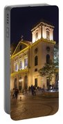 Old Portuguese Colonial Church In Macau Macao China Portable Battery Charger