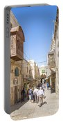 Old Town Street In Jerusalem Israel Portable Battery Charger
