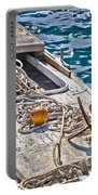 Old Wooden Fishing Boat Detail Portable Battery Charger
