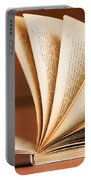 Open Book In Retro Style Portable Battery Charger by Michal Bednarek