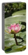 1 Open Pink Lily And 1 Opening... Portable Battery Charger