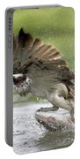 Osprey With A Living Fish, Fischadler Portable Battery Charger