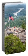 Overlooking Chimney Rock And Lake Lure Portable Battery Charger