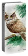 Owl Study Portable Battery Charger