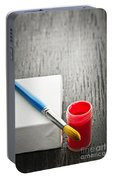 Paintbrush On Canvas Portable Battery Charger