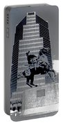 Pancho Villa Statue Downtown Tucson Arizona 1988-2008  Portable Battery Charger