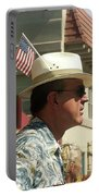 Parade Watcher Flag In Hat July 4th Prescott Arizona 2002 Portable Battery Charger