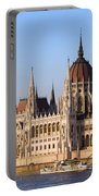 Parliament Building In Budapest Portable Battery Charger
