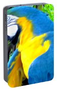 Blue Yellow Macaw. Parrot. Photo Of Bird Portable Battery Charger