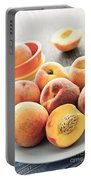 Peaches On Plate Portable Battery Charger